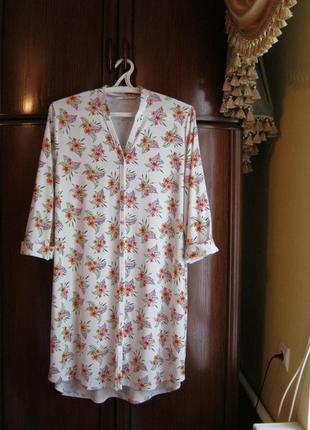 Халат-сорочка tu, вискоза, размер 22