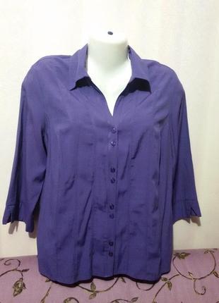 Темно-фиолетовая блуза (пог-55 см) вискоза