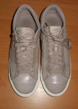 Стильные кожаные кроссовки кеды nike blazer low /р 40-41 /стелька 26 см