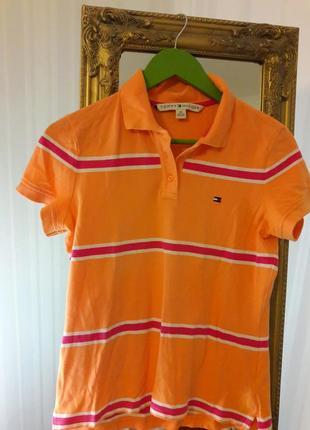 Футболка- поло оранжевого цвета # tommy hilfiger #оригинал