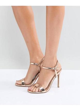 Босоножки на каблуке асос asos
