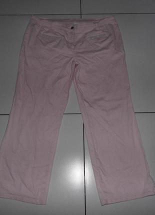 Женские капри розового цвета со стразами - uk 22 - германия