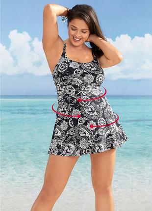 Шикарный купальник-платье на королеву р. 62/64  в идеале