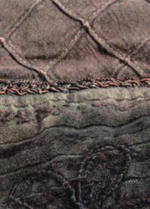 Шикарная велюровая блуза с вышивкой и кружевом,вискоза9 фото