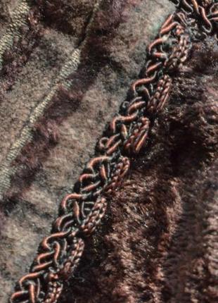 Шикарная велюровая блуза с вышивкой и кружевом,вискоза10 фото