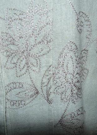 Натуральная летняя куртка лен (в груди 56см)4 фото