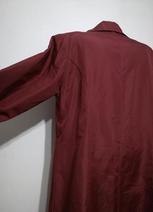 Плащ тренч оверсайз цвет бордо марсала, l-xl, италия4 фото