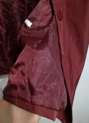 Плащ тренч оверсайз цвет бордо марсала, l-xl, италия5 фото