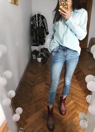 Голубі джинси джинсики хс брюки штани голубые джинсы xs1 фото