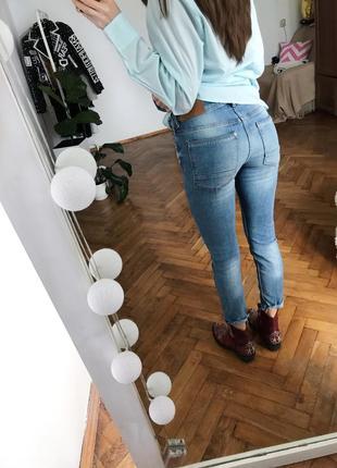 Голубі джинси джинсики хс брюки штани голубые джинсы xs3 фото