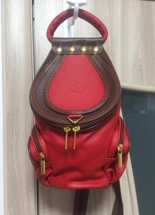 Кожаный рюкзачок италия!1 фото