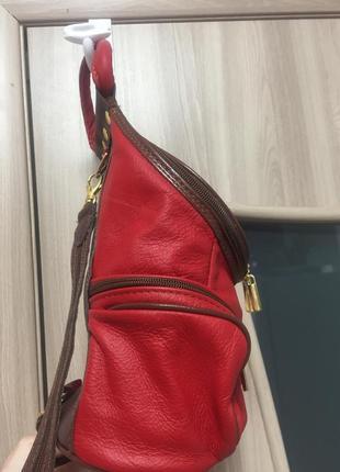 Кожаный рюкзачок италия!6 фото