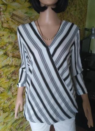 Блузка на запах в полоску