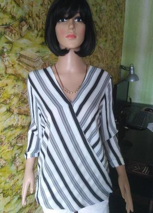 Блузка на запах в полоску2 фото