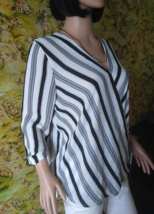 Блузка на запах в полоску3 фото