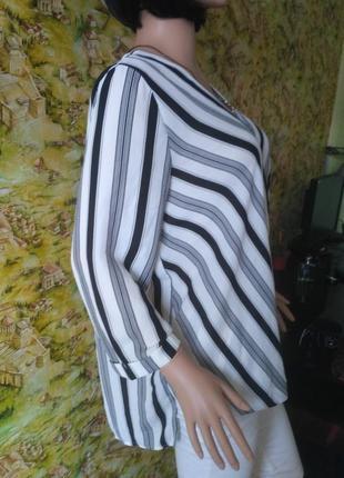 Блузка на запах в полоску4 фото
