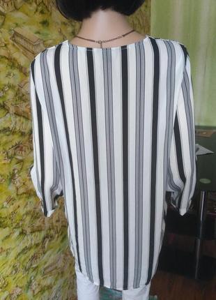 Блузка на запах в полоску5 фото