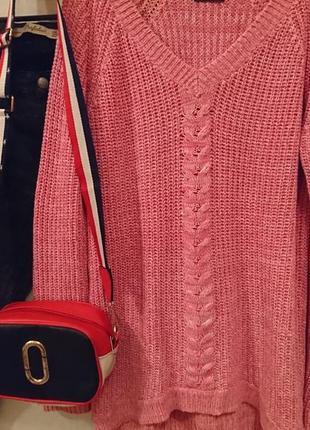 Трендовый вязаный свитер с косичкой 🔸бренд f&f3 фото