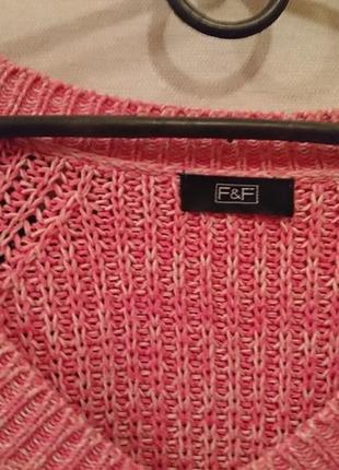 Трендовый вязаный свитер с косичкой 🔸бренд f&f4 фото