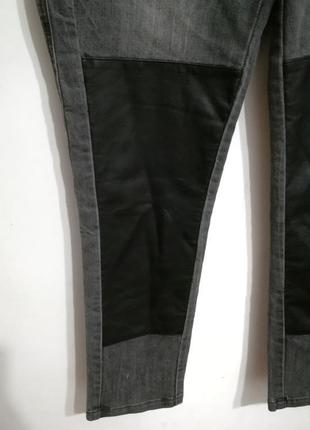 Необычные серые джинсы, 32 р-р2 фото