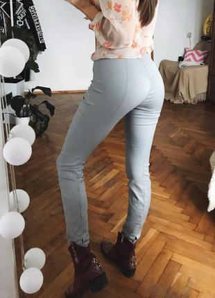 Сірі штани скінні лосіни брюки по вигуре на кант3 фото