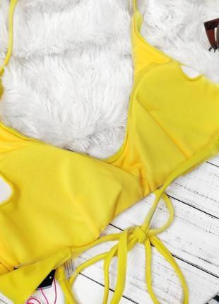 Купальник раздельный жёлтый верх низ пальмы2 фото