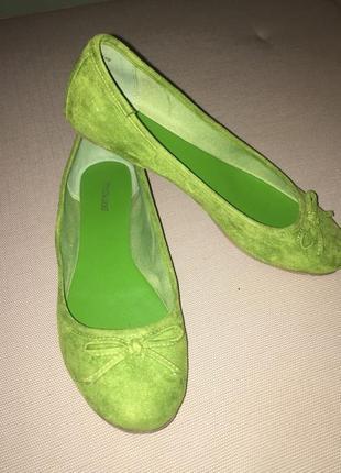 Салатовый балетки6 фото