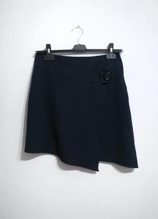 Асимметричная синяя юбка, качество! tout for femme, франция, 40/l