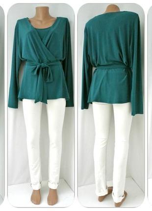 Красивейшая брендовая блузка на запах h&m. размер xl.1 фото