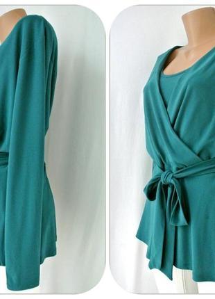 Красивейшая брендовая блузка на запах h&m. размер xl.3 фото