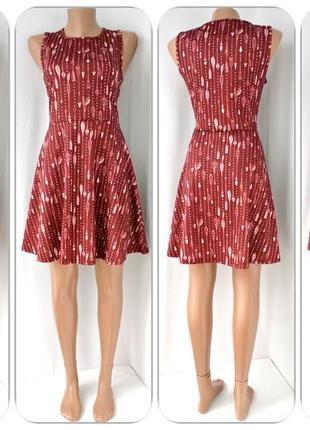 Оригинальное фирменное терракотовое платье fb sister со стрелами. размер м/l,наш 46).1 фото
