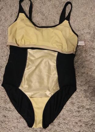 Черный сплошной купальник р 50 xl-xxl. можно на пышную грудь и попу.5 фото