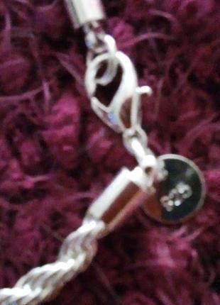 Элегантный витой женский браслет 925 проба стерлинговое серебро 75 грн.2 фото