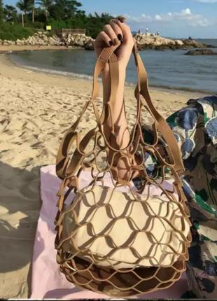 Офигенная сумка авоська два в одном лён3 фото