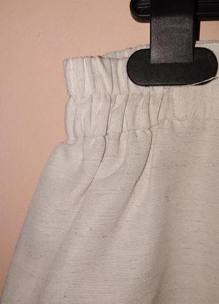 Белая хлопковая юбка-карандаш. батал.5 фото