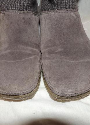 Замшевые сапожки сlarks для проблемных ног 395 фото