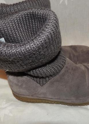 Замшевые сапожки сlarks для проблемных ног 393 фото