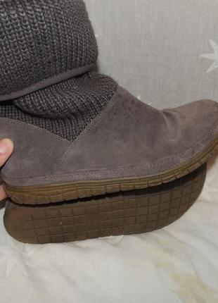 Замшевые сапожки сlarks для проблемных ног 391 фото