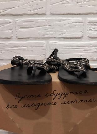 Босоножки сандалии вьетнамки из натуральной кожи6 фото