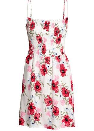 Платье в цветочный принт zara2 фото