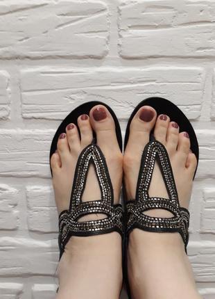 Босоножки сандалии вьетнамки из натуральной кожи3 фото