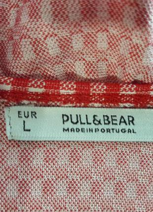 Супер платье красного цвета в мелкий белый и нежный кубик. pull&bear5 фото