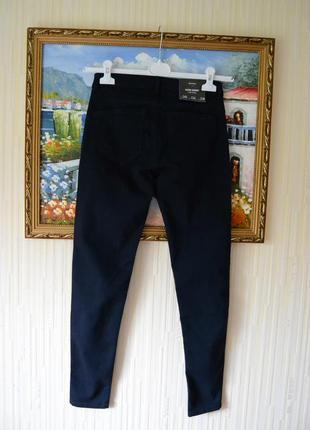 Bershka джинси темно сині скіні4 фото
