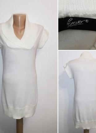 Акция! 1+1=3 💐 жилет туника платье цвет айвори, forever, m/381 фото