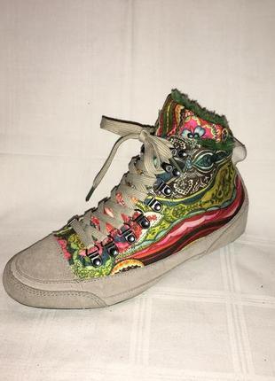 Ботинки *desigual* кожа+текстиль германия р.40 ( 26.00 см)1 фото