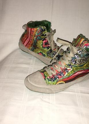 Ботинки *desigual* кожа+текстиль германия р.40 ( 26.00 см)4 фото