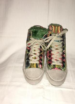 Ботинки *desigual* кожа+текстиль германия р.40 ( 26.00 см)5 фото