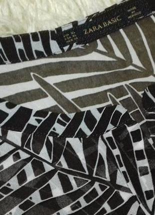 Легкое платье- туника zara basic6 фото