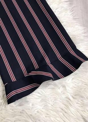 Платье в полоску с рюшами воланами zara3 фото