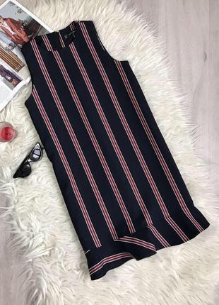 Платье в полоску с рюшами воланами zara2 фото